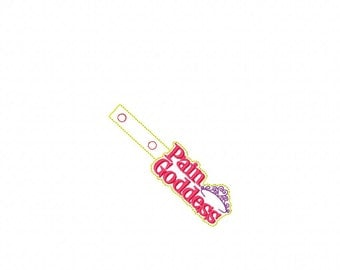 Pain Goddess - Tiara -  In The Hoop - Snap/Rivet Key Fob - DIGITAL Embroidery Design