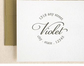 Personalized Custom Name Return Address Stamp Gift Card Handle Mounted Rubber Stamp Or Pre-inked Stamp Self inking stamp R614