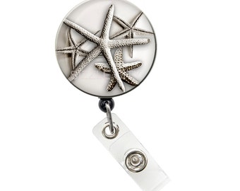 Badge Holder, Retractable Badge Reel (starfish) 1.25 inch