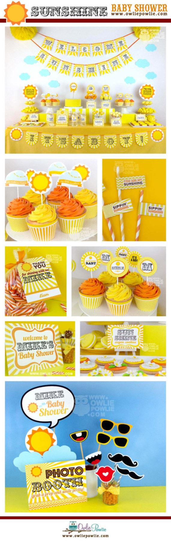 my sunshine baby shower party printable package