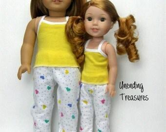 """18 inch doll clothes AG doll clothes AG doll pajamas hearts a plenty pj""""s"""