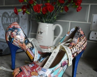 Custom Wonder Woman Heels