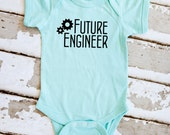 Future Engineer Onesie - Mint