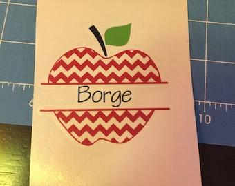 Apple decal, Teacher decal, Custom decal, teaching decal, custom sticker, apple sticker, apple decal, personalized decal
