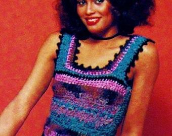 Muti-Textured Boho Tank Top PDF Crochet Pattern
