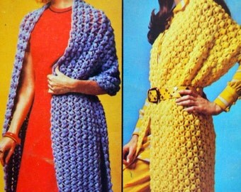 Shawls In New Skylark Yarn By Columbia Minerva Vintage Knitting And Crochet Leaflet 1972