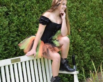Halloween Tutu - Witch Costume- Race Tutu - Adult Tutu -  Costume-Bachelorette tutu- Color Run Tutu -Running Tutu -5K Tutu-Tutu-Fun Run Tutu