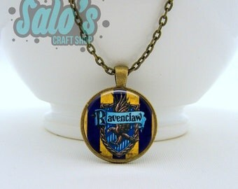 FREE SHIPPING Harry Potter Ravenclaw house necklace pendant or keychain