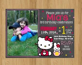 Hello Kitty Invitation | Hello Kitty Birthday Invitation | Hello Kitty Birthday | Hello Kitty
