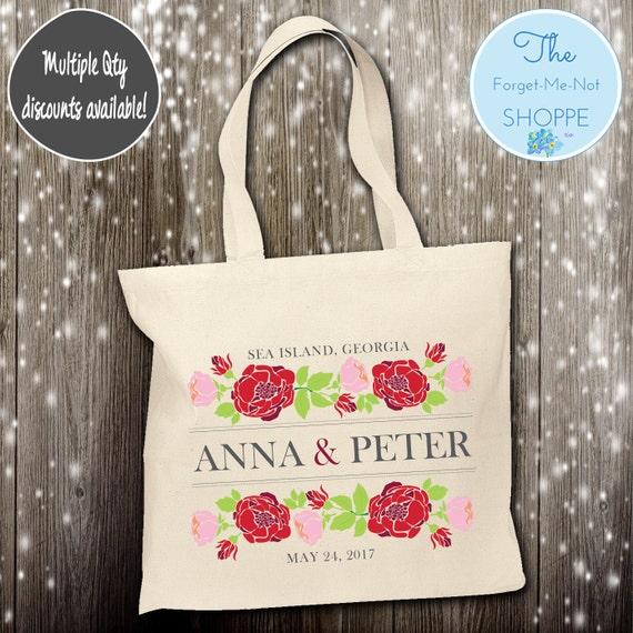 Flower Wedding Day Wedding Tote Bag ~ Bride to Be tote bag, Floral, bachelorette ,Mother,  party tote, Wedding Favor, Gift Tote