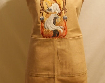Apron - Female Chef Machine Embroidered