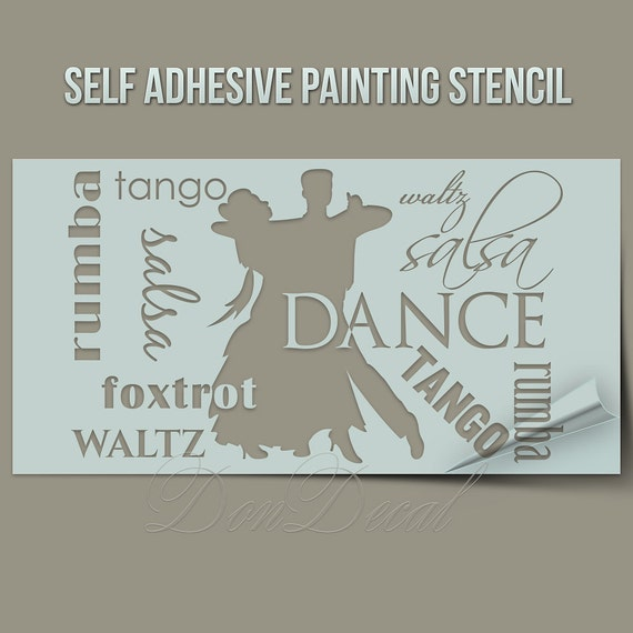 Dance Words Cloud One Time Use Self Adhesive Wall Painting