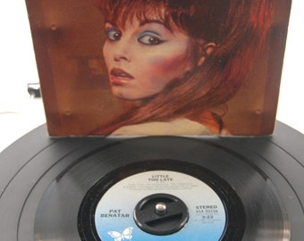 """Pat Benatar - """"Little Too Late"""" Picture Sleeve 45 Vinyl Record"""