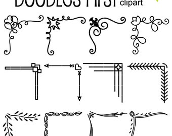 Corner Compilation Digital Clip Art for Scrapbooking Card Making Cupcake Toppers Paper Crafts