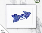 Pi Beta Phi | Wall Art Print | Sorority Big Little Reveal Gift | Officially Licensed | PBP-CP