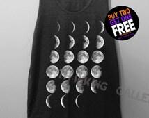 Moon Phase Shirt Tank Top Tunic TShirt T Shirt Singlet - Size S M L XL