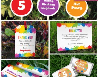 Art Party Invitation & Art Party Decorations - Art Party - Art Birthday - Instant Download - EDIT and print using Adobe Reader