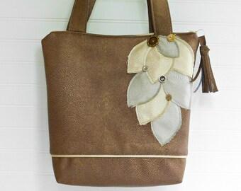 Metallic Handbag and Tote, Silver Handbag, Gold Handbag, Silver Tote, Metallic Evening Purse, Tote Bag with Zipper, Designer Handbag Womens