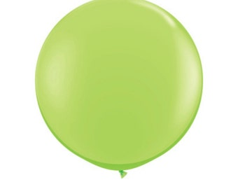 Lime Balloon Jumbo Lime Green Balloon 36 in. lime Balloons Giant lime green party Balloon Green Party Decor Neon Party 80s Party Balloon