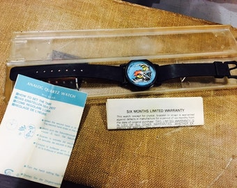 "Vintage 1989 Marvel ""Wolverine Watch"" in Case with Original Instructions"