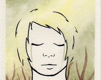 "Illustration ""Mother help me"", watercolour [original]"