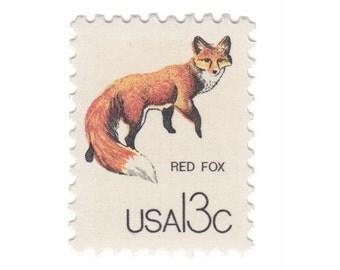 10 Unused Vintage US Postage Stamps - 1978 Canadian Wildlife Series - 13c Red Fox - Item No. 1757g