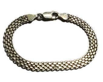 Sterling Silver Weaved Bracelet, 925 Jewelry,