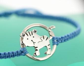 Year of the Tiger Bracelet - Sterling Silver Tiger Bracelet - Chinese Zodiac - Zodiac Sign Jewellery - Gift Card Bracelet
