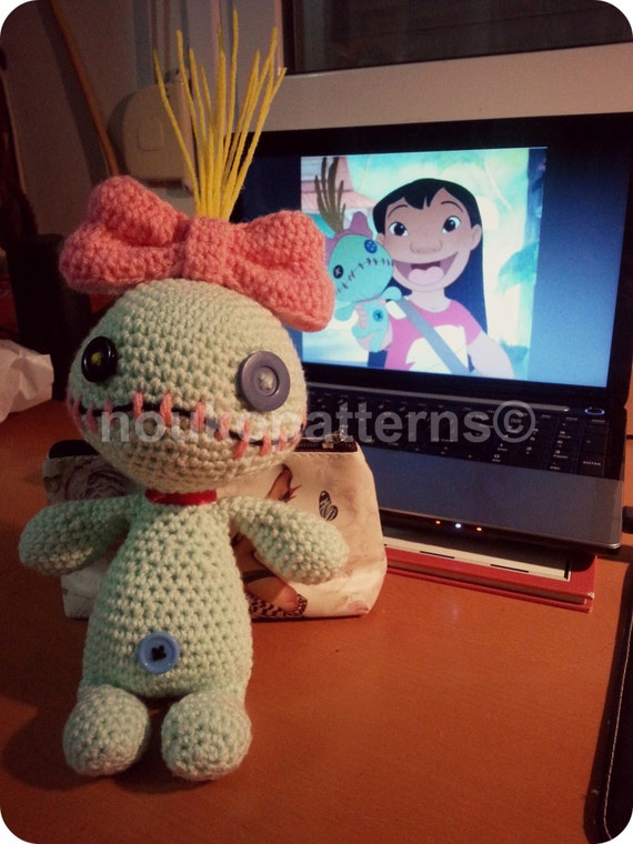 Crochet Amigurumi Voodoo Doll : Scrump the Voodoo Doll Lilo and Stitch Amigurumi by ...