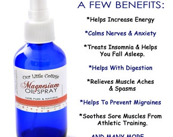 Magnesium Oil Spray, Magnesium Oil, Magnesium Spray, Magnesium, Mineral Supplement, Magnesium Mineral Supplement Spray