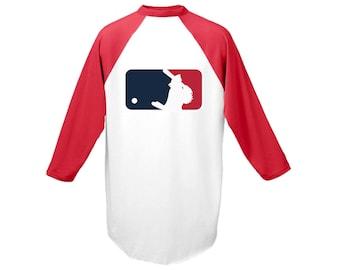 St. Louis Cardinals Baseball MLB Fredbird Unisex Baseball Style Three Quarter Length Sleeve T-Shirt Red / Baseball Tee / Baseball Shirt