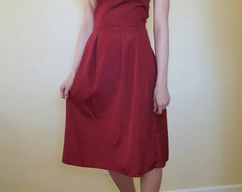 Vintage 1940s Red Dress. Size S/M