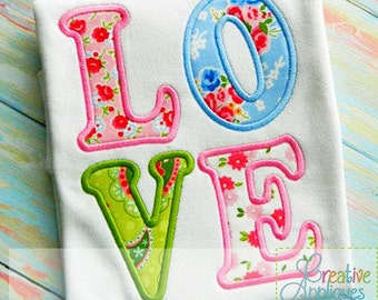 Love Valentine Digital Machine Embroidery Applique Design 4 Sizes