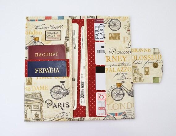 Travel wallet family passport holder travel document by for Family travel document organizer