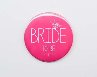 1 x Bride to Be Badge - Hen Night / Hen Party / Bachelorette Badge