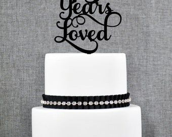 75 Years Loved Birthday Cake Topper, Elegant 75th Anniversary Cake Topper, 75th Cake Topper- (T245-75)