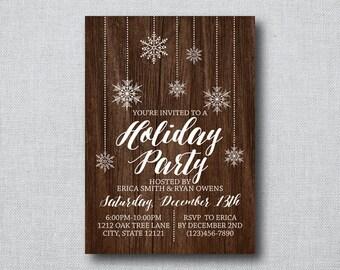 Holiday Invitation - Printable Holiday Party Invitation