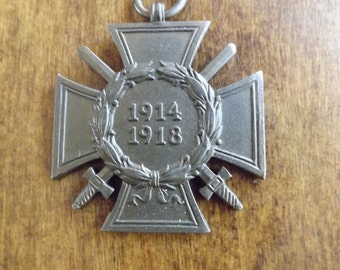 WW1 German Hindenburg Cross HKM Medal Of Honor 1910's