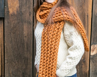 Knit Scarves in 20 Colors // Long Wool Scarf // Fall Accessories // Chunky Knit Scarves // THE JULES in 20 color options