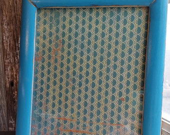 Turquoise  8x10 Distressed Frame