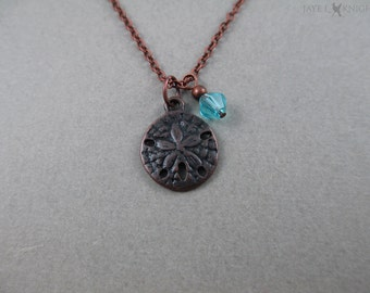 Copper Sand Dollar Charm Necklace