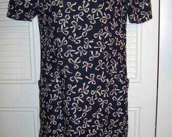Vintage Maggy London by Jeannene Booher Linen Dress - SENSATIONAL !  Size 4