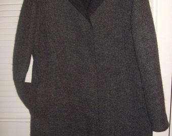 Vintage Cole Haan Elegant Career Coat - Tweedy Woven Coat - Size 10