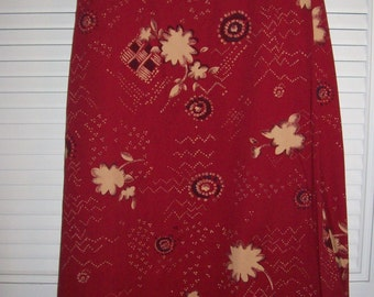 Vintage Ruff Hewn Maxi Wrap Skirt, Fall Find, Size 16.