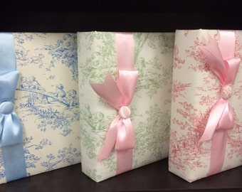 Toile Photo Album to Hold Your Treasured Memories!  Available Only in Pink Toile at this Time. Great Baby Shower or New Baby Gift