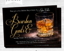 "Bachelor/Birthday Party Invitations - ""Bourbon and Gents"" - ""Scotch and Cigars"""