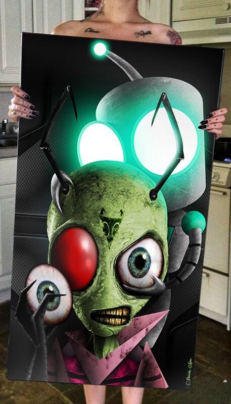 Invader Zim Gir Sci Fi Alien Robot Weird Outer Space
