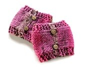 Womens Knitted Boot Cuffs, Knit Boot Cuffs, Ladies Boot Toppers, Cupcake Boot Cuffs, Button Boot Cuffs, Boot Warmers