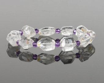 Star Hollandite Quartz Bracelet, Black Star Quartz Bracelet, Amethyst Bracelet, Gemstone Bracelet, Handmade Jewelry, Gemstone Jewelry