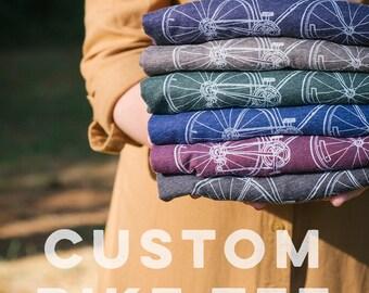 bike t-shirt, custom t-shirt, customized t-shirt, personalized womens gift, mens gift